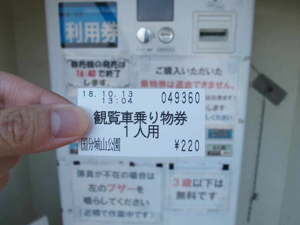 <写真・霧島市国分城山公園の観覧車>